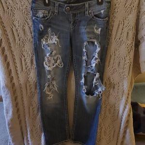 Silver Jean's straight leg